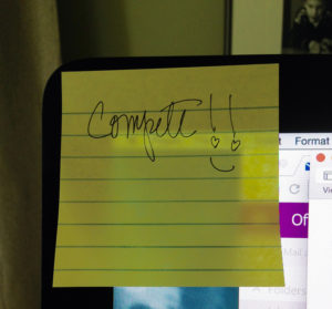 Yes, I really do have this sticky note on my Mac!