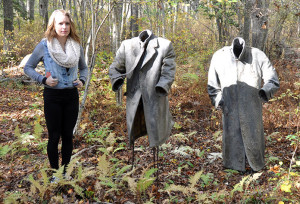 Tori, one of our cubs, fitting in with her otherworldly friends at the Dedee Shattuck Gallery, Westport, MA
