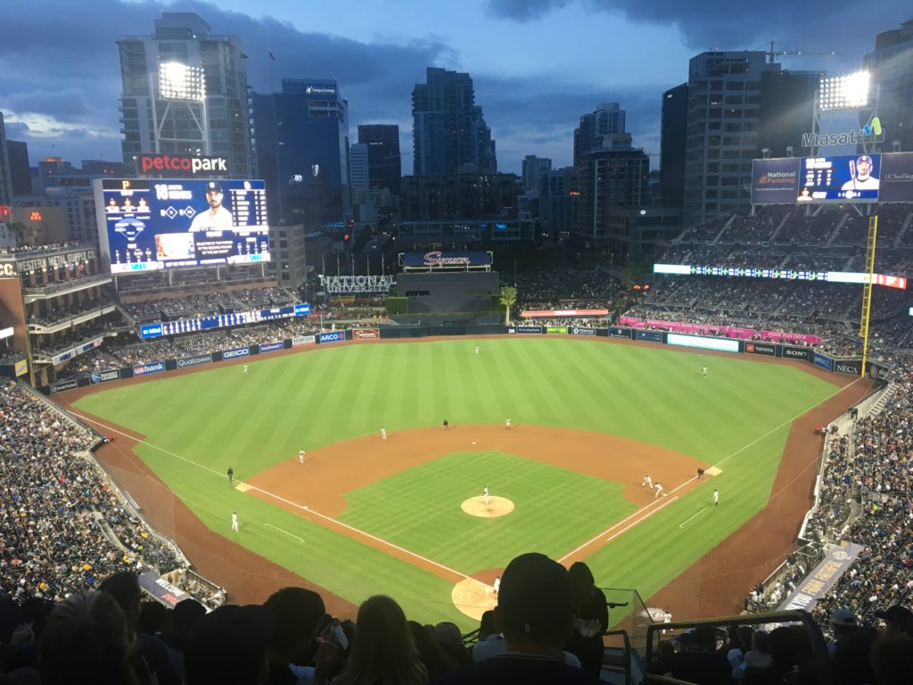 picture of Petco Park at night