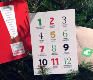 This year's Twirling Tiger Press holiday cards (Photo: Maureen Joyce)