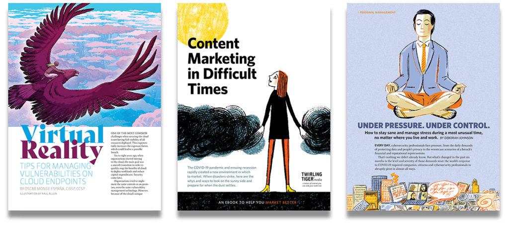Design samples from Twirling Tiger Media