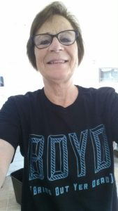 A selfie with my new T-shirt. Never mind I had to look up the meaning online...it's still a cool shirt.