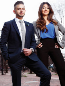 Young professional man and woman